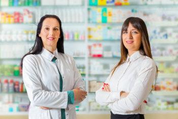 beautiful pharmacist standing